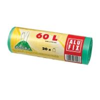 Vrecia na odpadky Alufix 60 l, zelené, zaťahovacie, 20 kusov