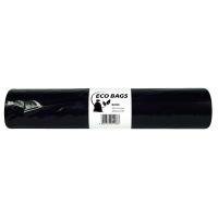 Vrecia na odpadky Alufix 120 l, čierne, nezaťahovacie, 25 kusov