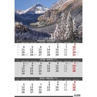 Hory – české/slovenské trojmesačné kalendárium, 12 listov, 31,5 x 45 cm