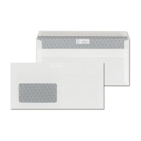 Obálky biele samolepiace  DL (110 x 220mm), okno vľavo, 1000ks/balenie