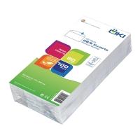 Obálky jednoduché biele C6/5 (114 x 229 mm), 100 kusov/balenie
