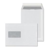 Tašky samolepiace s krycou páskou biele C5 (162 x 229 mm), okno vľavo, 50 ks/bal