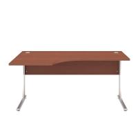 Pracovný stôl ľavý BC-06L, kalvados, rozmer 160x100/68x74 cm