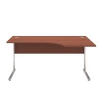 Pracovný stôl pravý BC-06R, kalvados, rozmer 160x100/68x74 cm