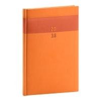 Týždenný diár Aprint 2018, oranžový, 15 x 21 cm, A5