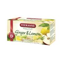 Porciovaný čaj Teekanne Premium zázvor & citrón, 20 vrecúšok à 1,75 g