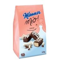 Kokosové keksíky Manner Mio s čokoládovou polevou, 120 g