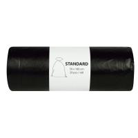 Vrecia na odpad v rolke Alufix, 80 l, čierne, 20 ks