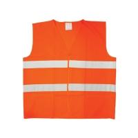 Reflexná bezpečnostná vesta, oranžová