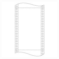 Papier do ihličkových tlačiarní, 54 g/m²,  21 x 30,5 cm, 1+1 vrstva
