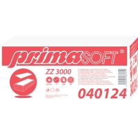 Skladané ZZ utierky PrimaSoft extra biele, 20 balení po 160 kusov