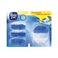 Závesný WC blok Ambi Pur Fresh Water & Mint + 3 náhradné náplne 55 ml
