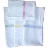 Bavlnená utierka na riad bielo-červená, 50 x 70 cm