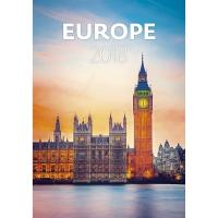 Europe - mesačné medzinárodné kalendárium, 14 listov, 31,5 x 45 cm