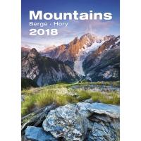 Mountains/Hory - mesačné medzinárodné kalendárium, 14 listov, 31,5 x 45 cm