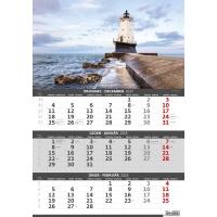Pobrežie - české/slovenské trojmesačné kalendárium, 12 listov, 31,5 x 45 cm