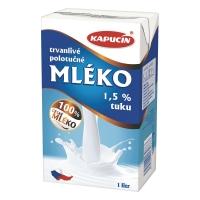 Trvanlivé mlieko Kapucín 1,5 % 1 l
