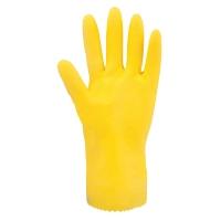 Latexové rukavice na upratovanie, farba žltá, 1 pár, veľkosť L