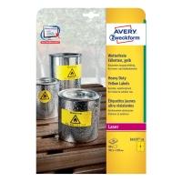 Veľmi odolné polyesterové e tikety Aver y Zweckform, 99,1 x 139mm, žltá farba