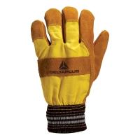 DELTAPLUS DF132 Zateplené kožené rukavice, veľkosť 10