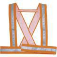DELTAPLUS Ramenný reflexný pás BAUCE, veľ. M, farba fluorescenčná oranžová