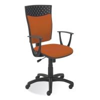 Kancelárska stolička Dekora, oranžová