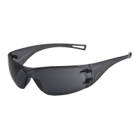 Ochranné okuliare bezrámové, tmavošedé