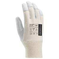 Kožené rukavice na všeobecnú manipuláciu kozia koža/bavlna, veľkosť 10
