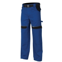 Montérkové nohavice do pásu, bavlna, veľkosť 52, modrá farba