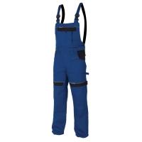 Montérkové nohavice na traky, veľkosť 54, modrá farba
