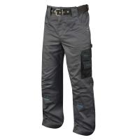 Montérkové nohavice do pása, PE/bavlna, veľkosť 56, šedá/čierna farba