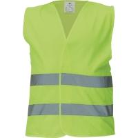 91844 Reflexná bezpečnostná vesta XL žltá