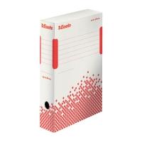 ESSELTE SPEEDBOX Archivačná krabica 80mm biela/červená, 25 kusov v balení