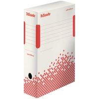 ESSELTE SPEEDBOX Archivačná krabica 100mm biela/červená, 25 kusov v balení