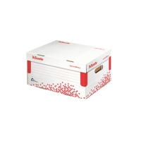 ESSELTE SPEEDBOX Archivačný kontajner s vekom A4 biela/červená, 15kusov v balení
