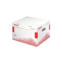 ESSELTE SPEEDBOX Archivačný kontajner s vekom L biela/červená, 15 kusov v balení