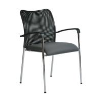 Konferenčná stolička Antares Spider D5, šedá