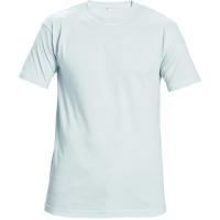 Tričko s krátkym rukávom, bavlna, veľkosť XL, farba biela