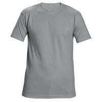 Tričko s krátkym rukávom, bavlna, veľkosť L, farba sivá