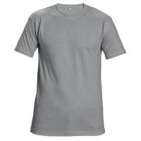 Tričko s krátkym rukávom, bavlna, veľkosť XXL, farba sivá