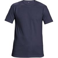 Tričko s krátkym rukávom, bavlna, veľkosť M, farba námornícka modrá