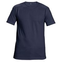 Tričko s krátkym rukávom, bavlna, veľkosť XL, farba námornícka modrá