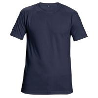 Tričko s krátkym rukávom, bavlna, veľkosť XXL, farba námornícka modrá