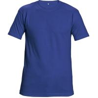 Tričko s krátkym rukávom, bavlna, veľkosť M, farba kráľovská modrá