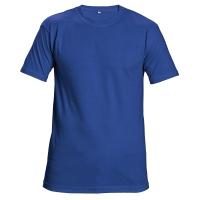 Tričko s krátkym rukávom, bavlna, veľkosť XXL, farba kráľovská modrá
