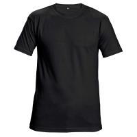 Unisexové tričko s krátkym rukávom, bavlna, veľkosť L, farba čierna