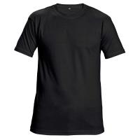 Unisexové tričko s krátkym rukávom, bavlna, veľkosť XXL, farba čierna