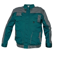 Montérková bunda, veľkosť 56, farba zelená/ sivá