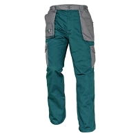 Montérkové nohavice do pása, veľkosť 56, farba zelená/ sivá