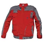 Montérková bunda, veľkosť 54, farba červená/ sivá